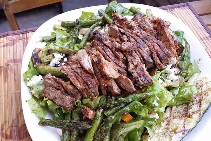 Salade de steak au vinaigre balsamique blanc