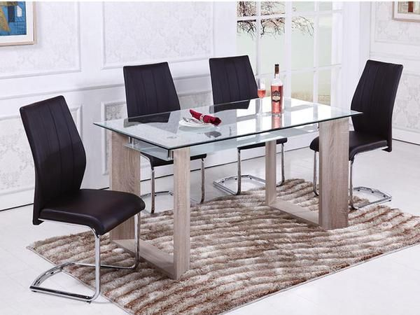 Callie Glass Dinette Table Set  #www.craftmansfurniture.ca #furniture #furnituredesign #interiordesign #interiors #furnishing #couches #sofas #bedroomset #diningtable #rugs #coffeetables #canvas #endtables #accessories #accentchairs #canadianmade #solidwood #barstools #mirrors #heartlandtowncentre #handmade #mississauga #contemporaryart #bedroomdecor #homedecor #modernfurniture