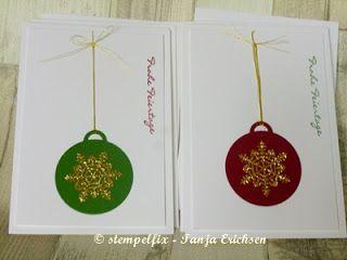 Stempelfix: Karten Geschenkset - Frohe Feiertage, Weihnachtskarte