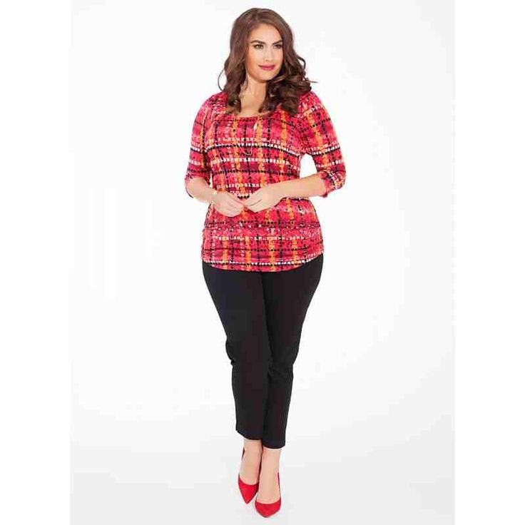 PRE-ORDER - Mindy Plus Size Top in Cerise Curve $88.00 http://www.curvyclothing.com.au/index.php?route=product/product&path=95_96&product_id=8530