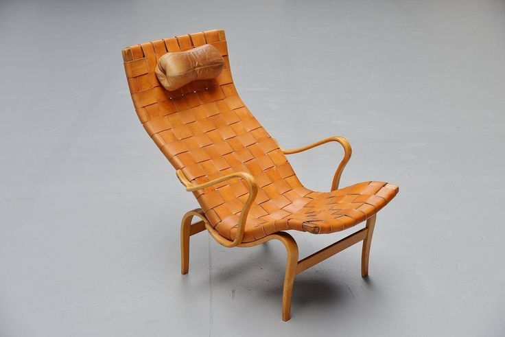 Bruno Mathsson Pernilla Lounge Chair, Sweden, 1960 | From a unique collection of antique and modern lounge chairs at https://www.1stdibs.com/furniture/seating/lounge-chairs/