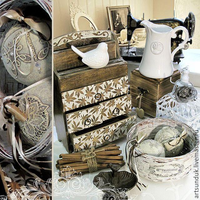 Купить Комодик - коричневый, интерьер, Декупаж, Мебель, дерево, состаривание, подарок, шкатулка, комод, комодик