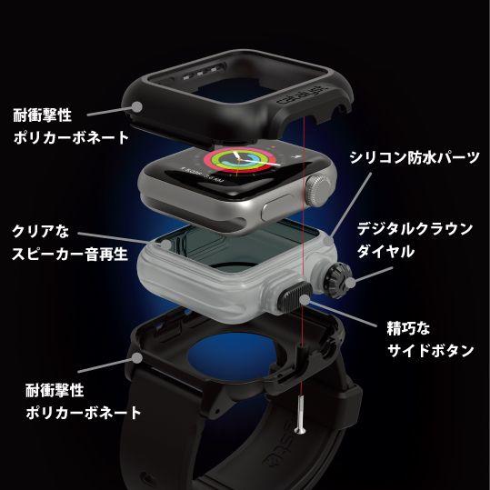 水深100m完全防水 全数検査済 耐衝撃プロテクション 海水の腐食性からApple Watchを完全保護 JIS規格 最上級「IP68」準拠 アメリカ国防総省 軍事規格「MIL-STD-810