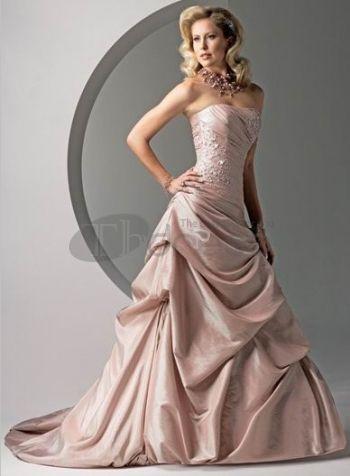 Abiti da Sposa Colorati-Rosa con anta senza spalline abiti da sposa colorati