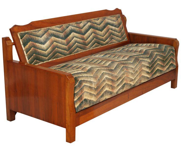 1930s Convertible Sofa Bed in walnut art deco