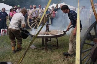 wheelright tyring a wheel - Robin Wood
