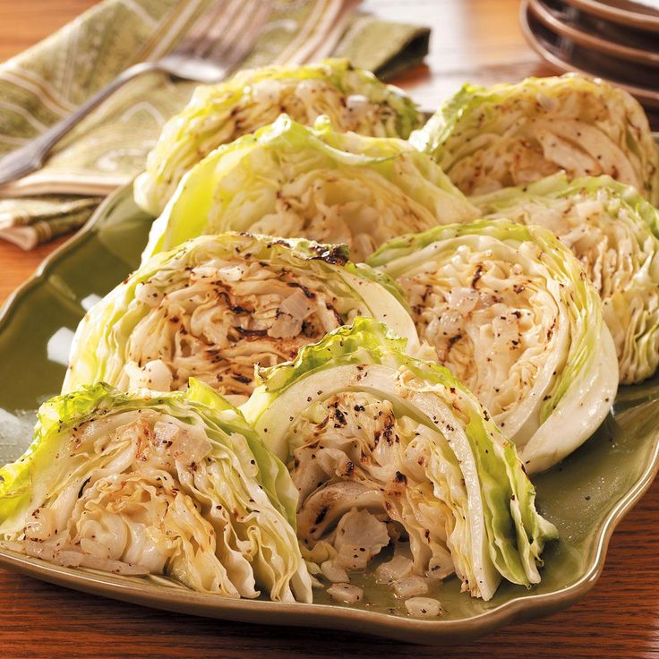Grilled Cabbage Recipe -I don't really like cabbage, but I fixed this recipe and couldn't believe how good it was! We threw some burgers on the grill and our dinner was complete. I never thought I'd skip dessert because I was full from eating too much cabbage! —Elizabeth Wheeler, Thornville, Ohio