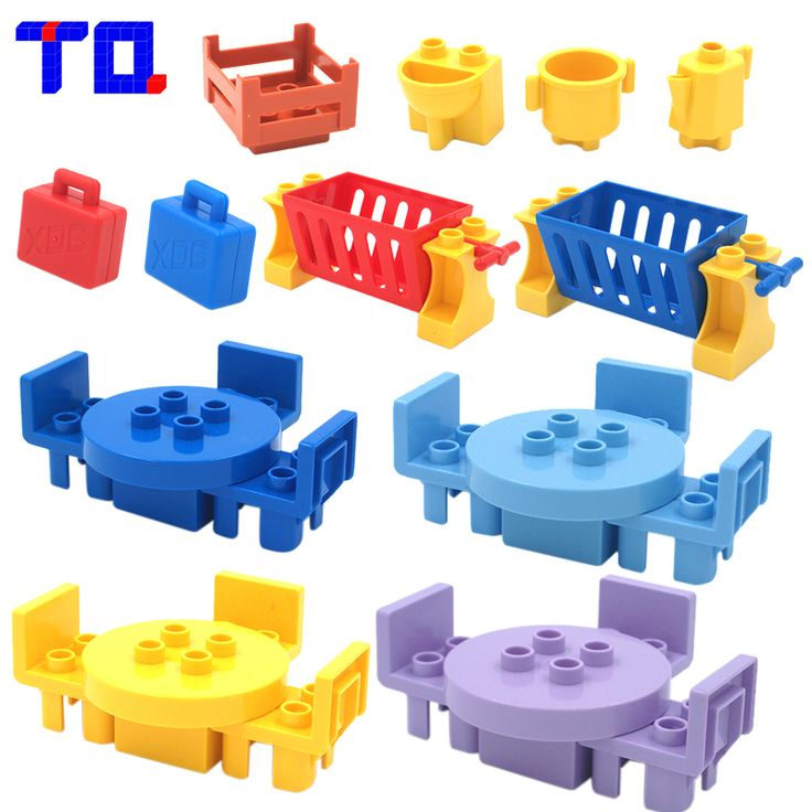 tq table chair cradle lou yi case building block accessories home furnishing decoration brick toys compatible