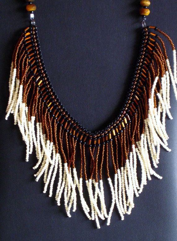 Native American necklace in black copper by MontanaTreasuresbyMJ