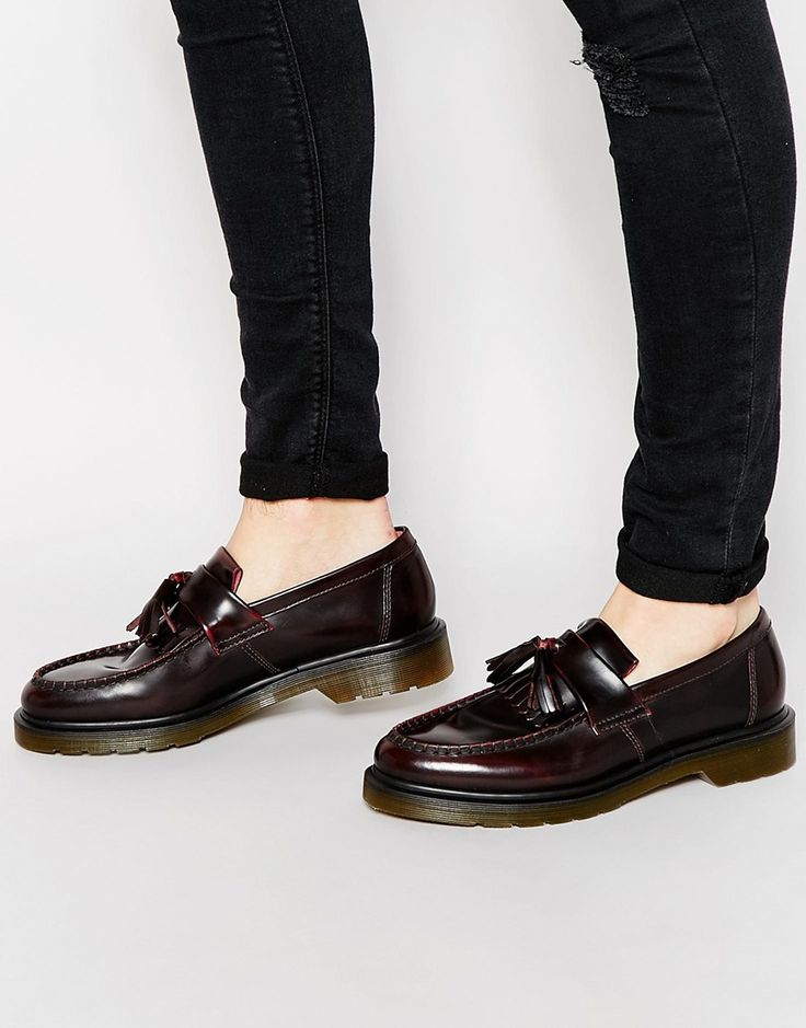 Brown And Gold Tassel Shoes Mens