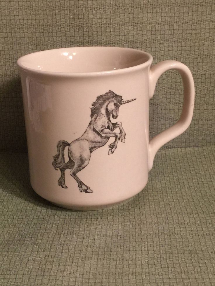 Unicorn Coffee Cup; Coffee Cup by Small World Greetings Made in Japan and Featuring a Unicorn Design by Pamsplunder on Etsy