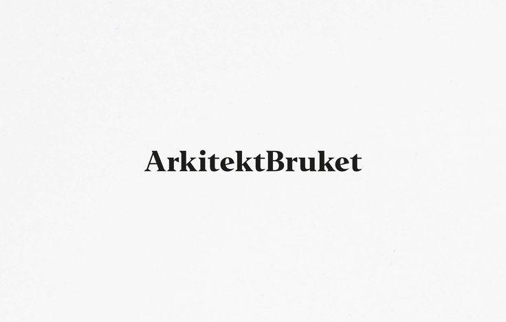 Logotype for architecture firm inspired by old newspaper headlines  —  Logotyp för svensk arkitektbyrå som är inspirerad av gamla tidningsrubriker