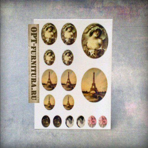 фотокарта для декора и стеклянных кабошонов