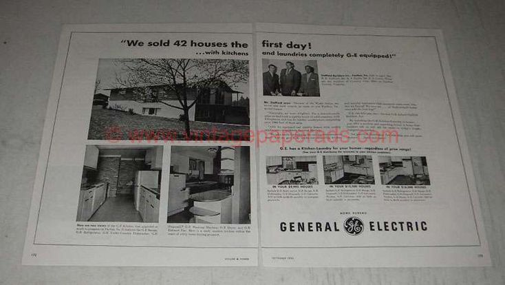 1954 General Electric Appliances Ad - Sold 42 Houses
