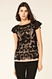 oasis shop | blk lace t-shirt | womens fashion clothing | oasis stores uk