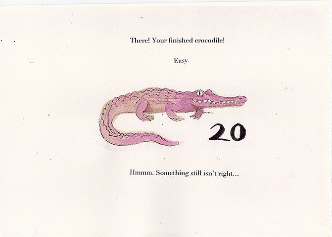 how to draw a baby crocodile