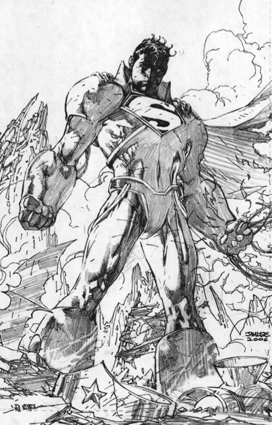 Upcoming Infinite Crisis #6 featuring Superboy Prime art by Jim Lee! (DC comics)