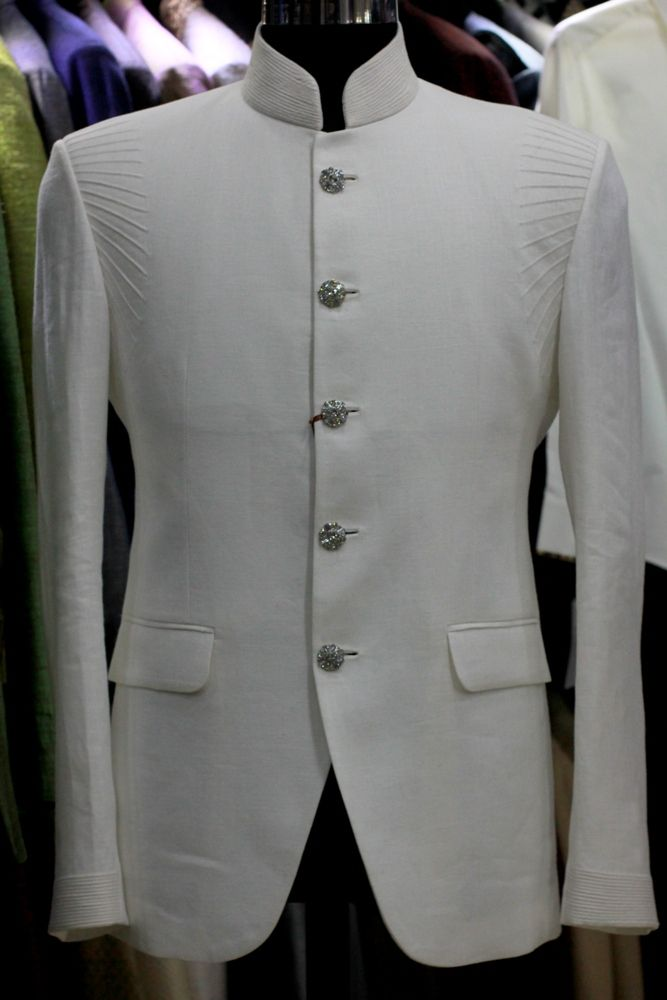Off white Bandh Gala Jacket