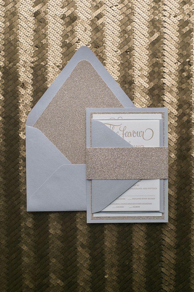 Fabulous Silver and Gold Glitter Modern Wedding