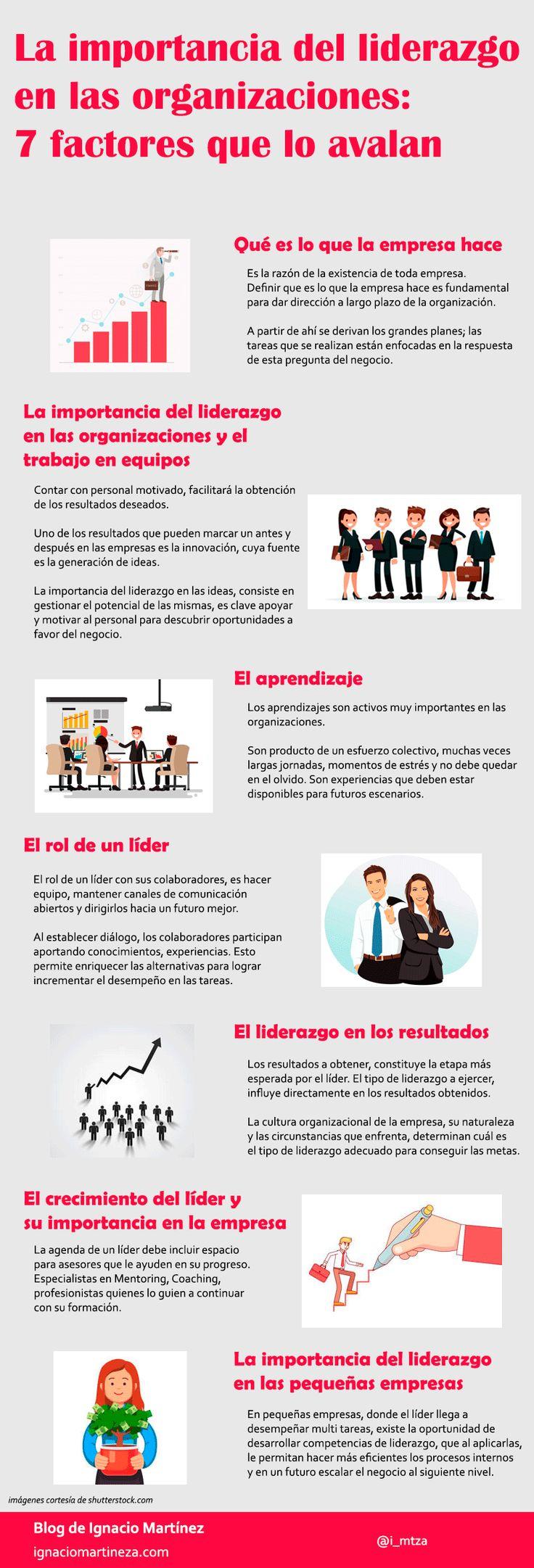 Infografía - La importancia del liderazgo en las organizaciones