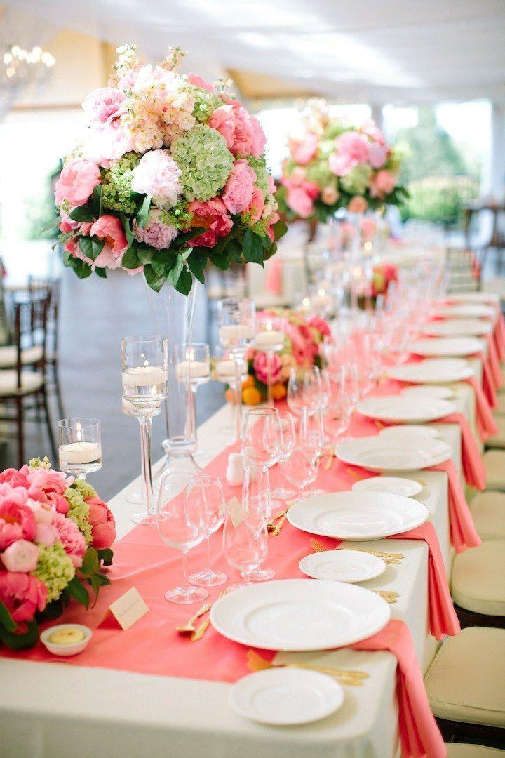 65 best coral wedding event decor images on pinterest event newport wedding with stellar coral details junglespirit Gallery