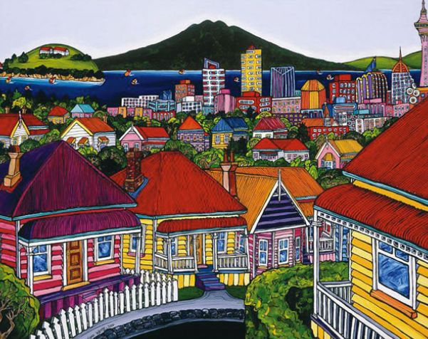The Harbour from Ponsonby By Fiona Whyte