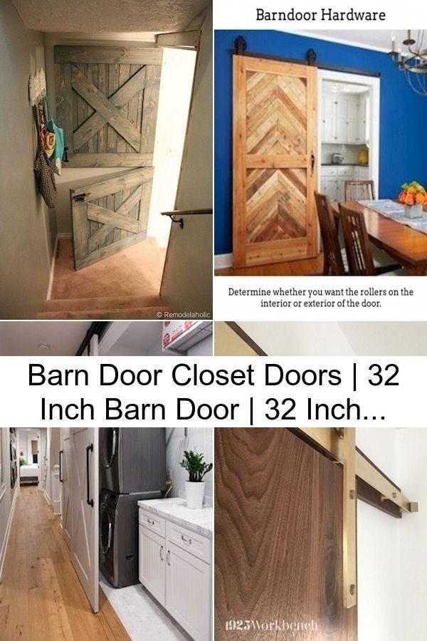 Barn Door Closet Doors 32 Inch Barn Door 32 Inch Sliding Barn Door In 2020 Barn Door Barn Door Closet Interior Barn Doors