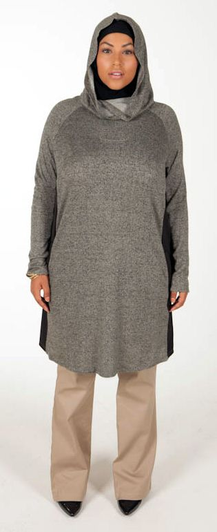 Super Soft Hoodie with Pockets -- Forest - $52.99 : Plus Size Muslimah :: Plus Size Islamic Dress for Women, plus size Islamic clothing, plus size abaya, plus size modest clothes, ankle length skirt, full length dress, Plus size Islamic dress for women. Get trendy Islamic clothing in plus sizes, plus size abayas, plus size jilbabs, and more.