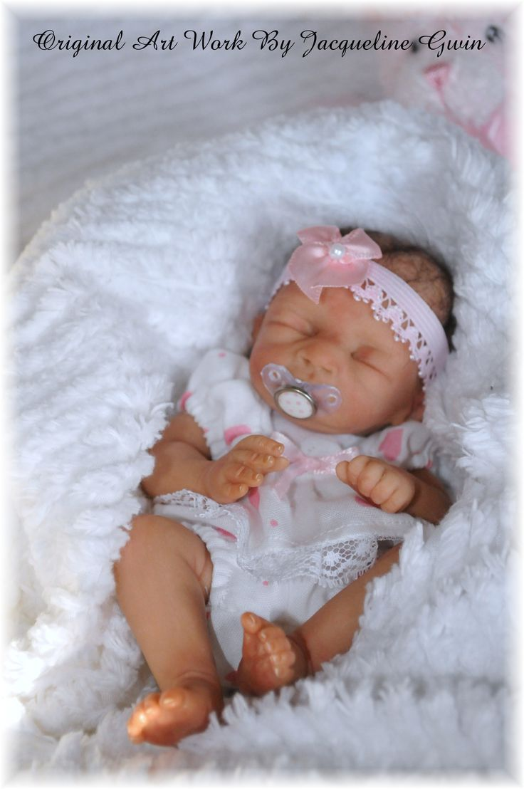Solid Silicone Baby Dolls | ... is a miniature hand sculpted doll at approximately 7 inches long