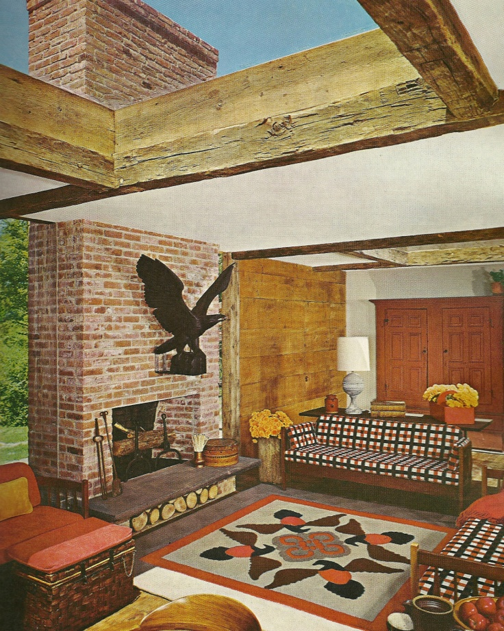 Vintage Home Decorating, living rooms, garden rooms, 1970s