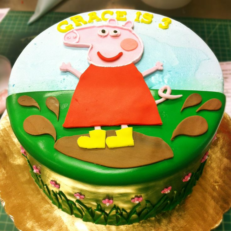Peppa Pig Birthday Cakes Pinterest