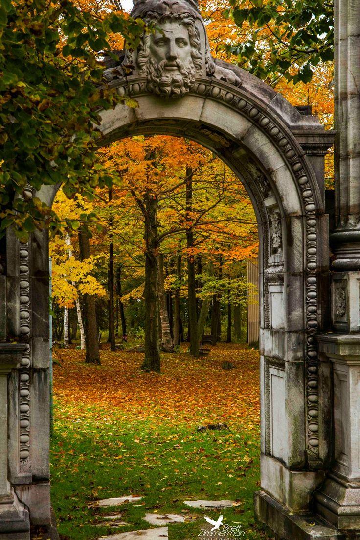 "pathodel: ""ollebosse: "" Hercules Gate Autumn by BrettAZimmerman "" Guild Inn Gardens in Scarborough (East Toronto), Ontario, Canada """