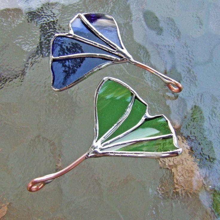 blue ginkgo gingko leaf pendant unique wedding gift
