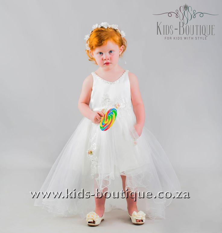 White V-Shaped Neckline Flowing Dress
