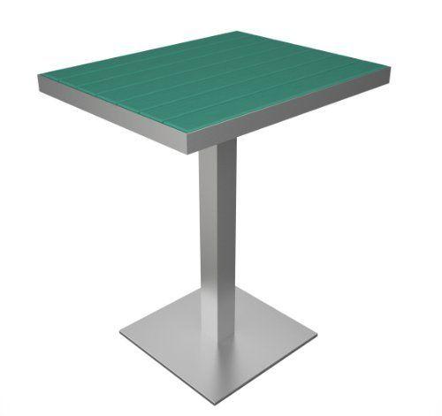 Polywood Euro Pedestal Dining Table Silver Base Color Aruba By 279 99