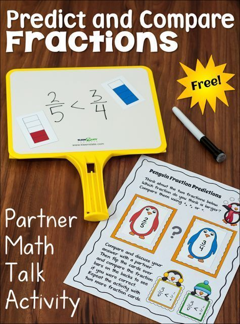 Free Predict and Compare Fractions Partner Activity... WOW! Students love this activity, and it sparks some amazing conversations about fractions!