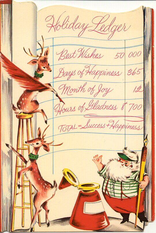 Vintage Christmas Card  #Christmas #Card: Vintage Christmas Cards, Vintage Illustrations, Vintage Holiday, Graphics Illustrations, Cards Christmas, Christmas Ledger, Christmas Vintage, Dreams Cars, Vintage Cards