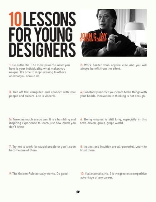 to all young designers!