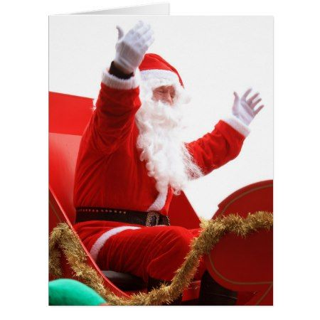 Santa Claus in Christmas luge Card - click/tap to personalize and buy
