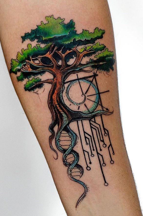 Spiritual tree of life tattoo
