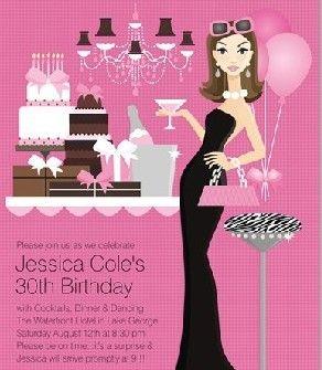 Resultado de imagen para invitaciones de cumpleaños para adultos mujeres