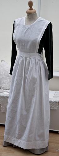 Victorian Edwardian White Pinafore Apron Maid Servant Waitress Broderie Anglaise | eBay