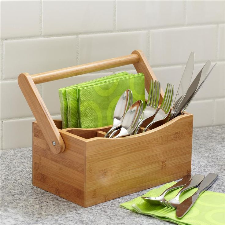 Store your utensils in our handy Natura Bamboo Utensil Caddy