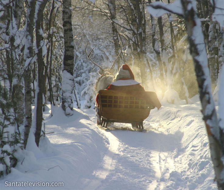 Père Noël sur la route …