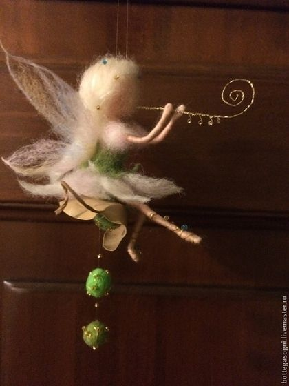 """Сказочные персонажи ручной работы. Ярмарка Мастеров - ручная работа. Купить """"Фея с флейтой"""". Handmade. Белый, ручная работа, куколка"""