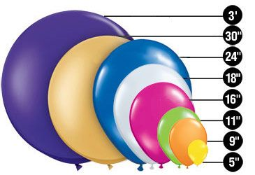 Balloon Shapes & Sizes