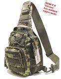 TravTac Stage I Sling Bag, Premium Small EDC Tactical Sling Pack 900D - ACU Camo - TravTac.com
