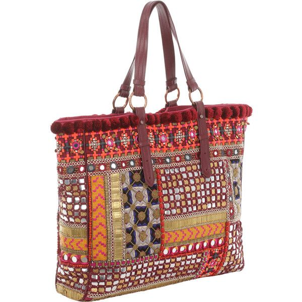 Matthew Williamson Bhangra Embroidered Tote Bag (1,695) found on Polyvore
