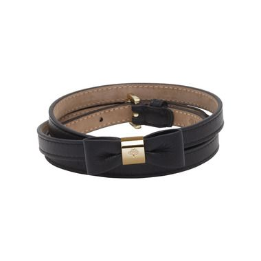 Mulberry - Bow Belt in Black Classic Nappa