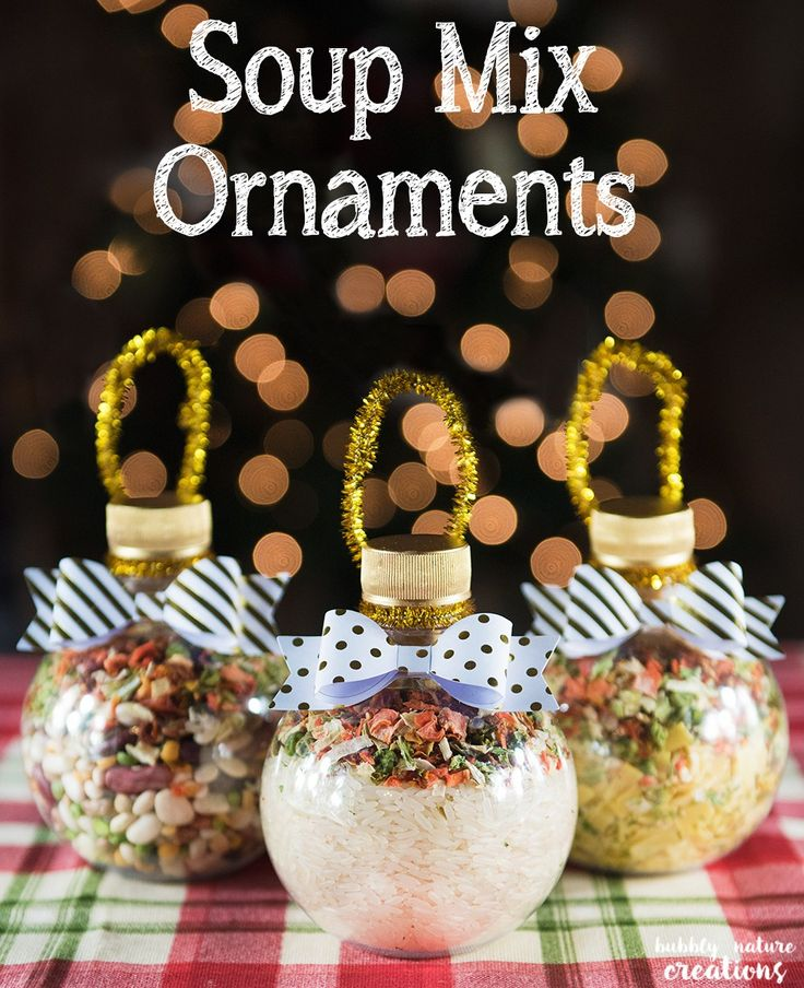 Soup Mix Ornaments! Such a cute gift idea for Christmas. I'll be making these for sure!